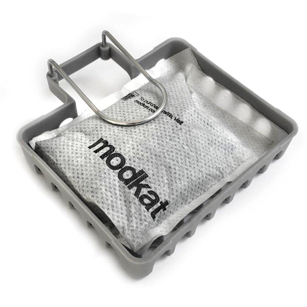Modkat Odor Filter Kit, Basket + Two 100% Natural Bamboo Charcoal Filter Packs