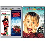Macaulay Culkin 3 pack Christmas Home Alone & Four Christmases + Fred Clause DVD Holiday Bundle Modern Classics Triple Feature
