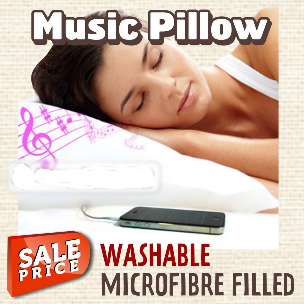 Ipod Pillow Ipod Iphone Music Pillow Luxury Microfibre Filled Amazonco