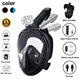 Full Face Snorkel Mask New Version 2.0, Ufanore Diving Mask Set, Foldable 180° Panoramic View, Free Breathing, Anti-Fog…