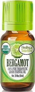 Organic Bergamot Essential Oil (100% Pure - USDA Certified Organic) Best Therapeutic Grade Essential Oil - 10ml