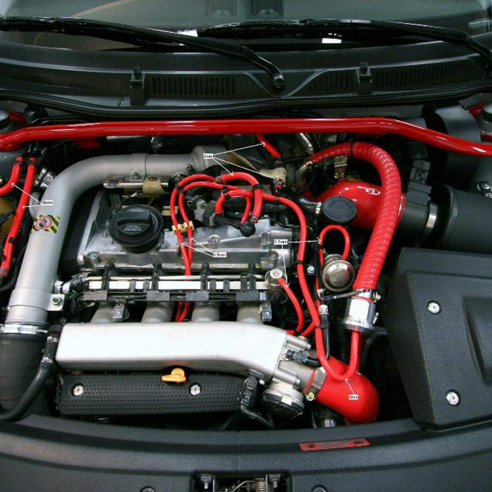 Keng Unterdruckschlauch Auto-Silikon-Vakuumschlauchleitung Turbinenk/ühler Mit Schlauch