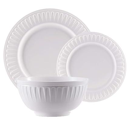 Amazoncom Classico White Dinnerware Set New Bone China White