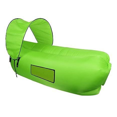 sfit – Sofá inflable con sombrilla Agua Densidad portátil hinchable Camilla Saco de dormir Cama de