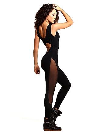1de4a061695 Amazon.com  Most Sexy Sports Jumpsuit DF Sexy Black