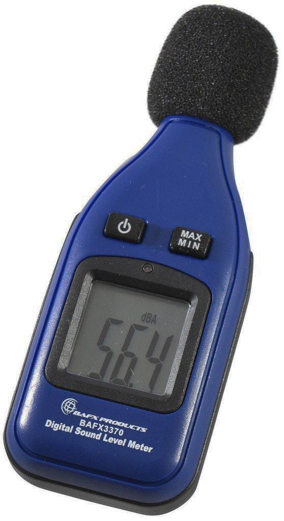 BAFX Products - Decibel Meter/Sound Pressure Level Reader (SPL) / 30-130dBA Range - 1 Year Warranty by BAFX Products