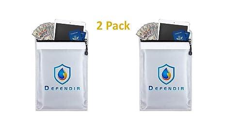 Amazoncom 2 Pack Defendir Fireproof Document Bag Envelope 11 X