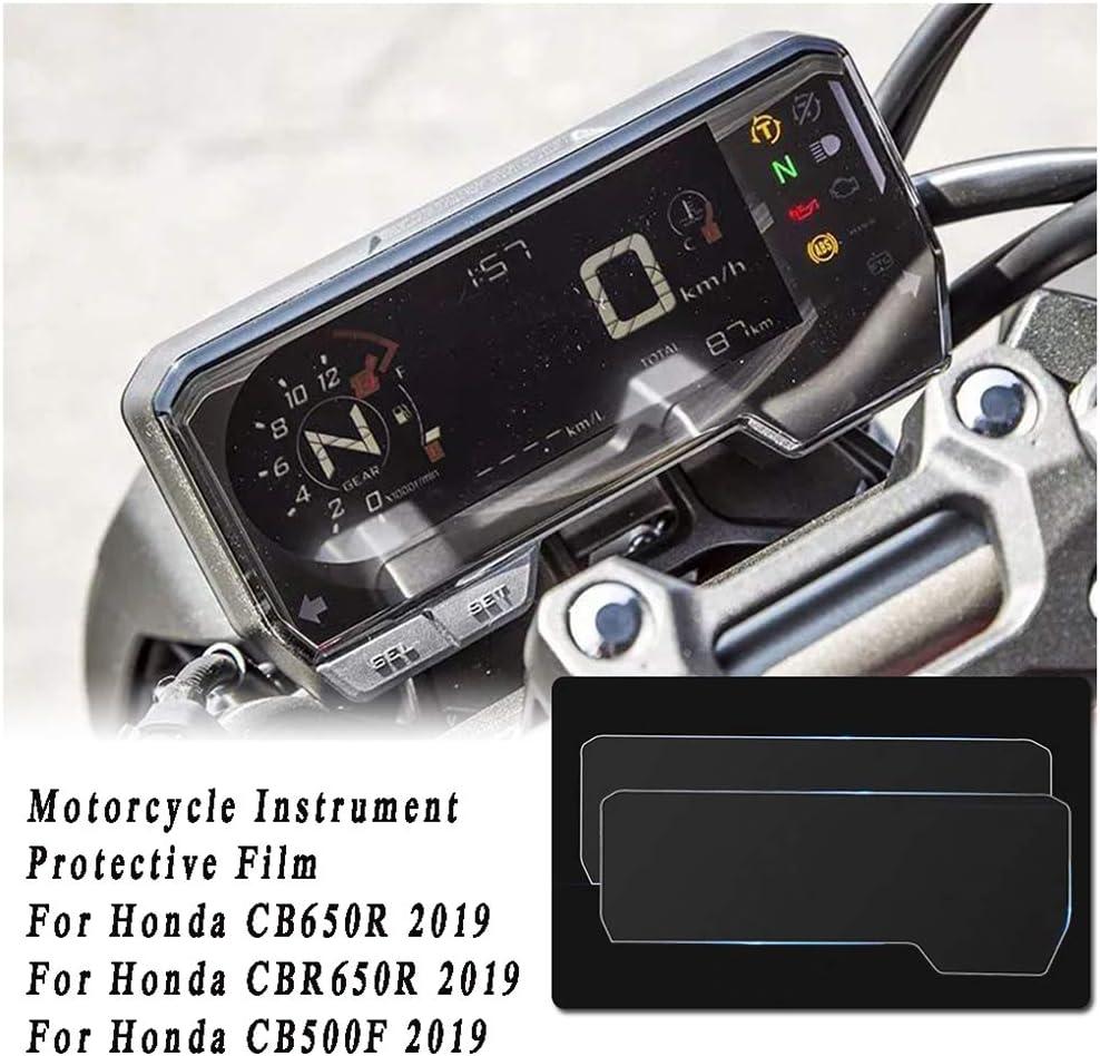savvies 6-Pezzi Pellicola Protettiva Compatibile con Honda CMX500 Rebel 2017-2020 Display del tachimetro Protezione Schermo Trasparente