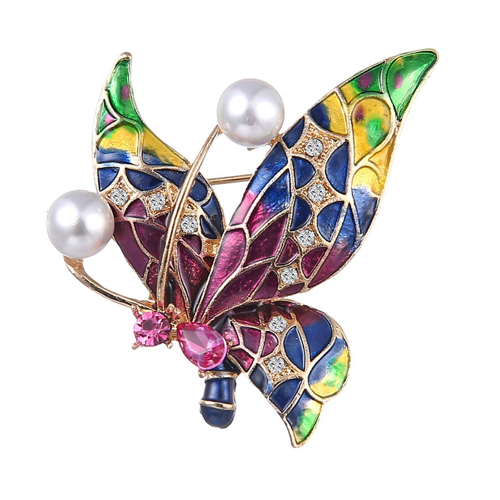 HAOWANG Brooch Fine Women Brooch Insect Butterfly Corsage Wild Pin Jewelry Shawl Clothes Scarf Decoration Gift Pin