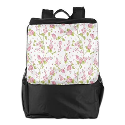 45d449f71fe4 Newfood Ss Nature Blossoms Buds Flowers Lavenders Florals Leaves Ivy  Artwork Outdoor Travel Backpack Bag For