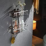 Wall Bathroom Shelf Stainless Steel Toilet Wall Bathroom Toilet Thicker Plate Basket Towel Rack