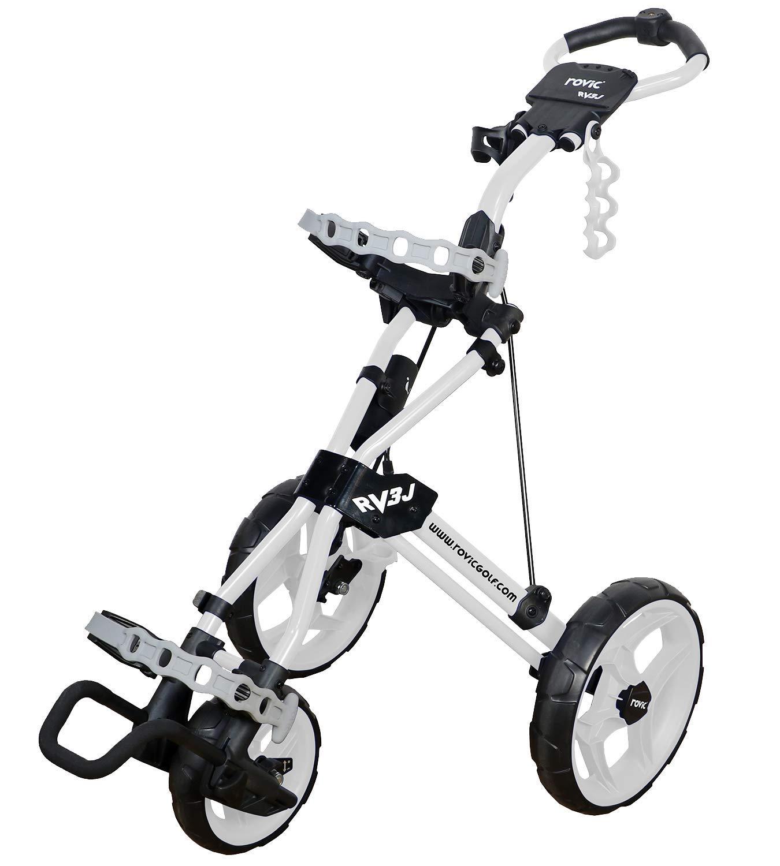 Rovic Model RV3J Junior | Youth 3-Wheel Golf Push Cart (White) by Rovic