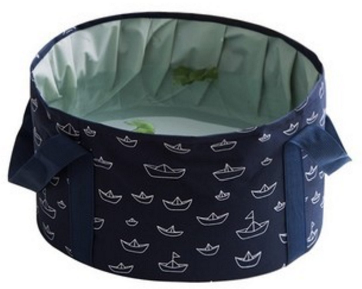 16L Premium Compact Portable Multi-functional Durable Leak-Proof Wash Basin Collapsible Bucket for Camping (Dark blue)