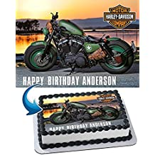 Harley-Davidson Edible Cake Topper Personalized Icing Sugar Paper A4 Sheet Birthday party Cake Decoration Edible Image