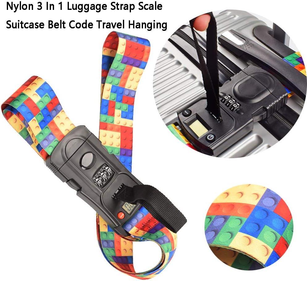Fayeille Sangle Bagages /échelle 3 en 1 Suspendu m/énage Emballage Valise Ceinture voe TSA Serrure en Nylon r/églable Code Pesage /écran LCD Multifonctionnel