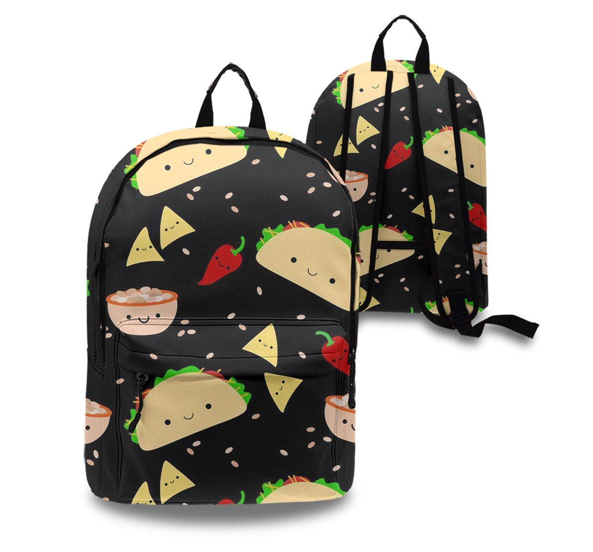 dd48e3c0b292 Amazon.com: Taco Tuesday Party Rucksack With Side Pockets, Traveling ...