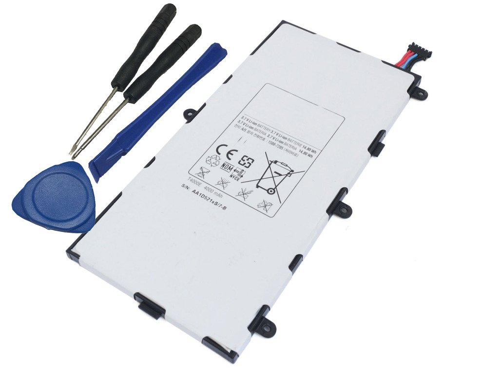 Tesurty New Replacement Battery for Samsung Galaxy Tab 3 7.0'' Inch SM-T210 T210R T217S T4000E LT02 with Tools WiFi LTE
