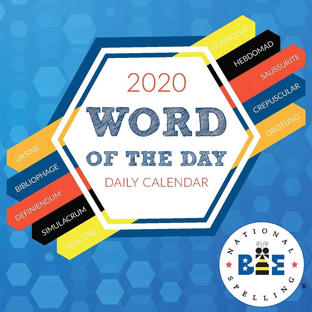 Scripps Spelling Bee 2020 Word List.Amazon Com 2020 Word Of The Day Daily Desktop Calendar