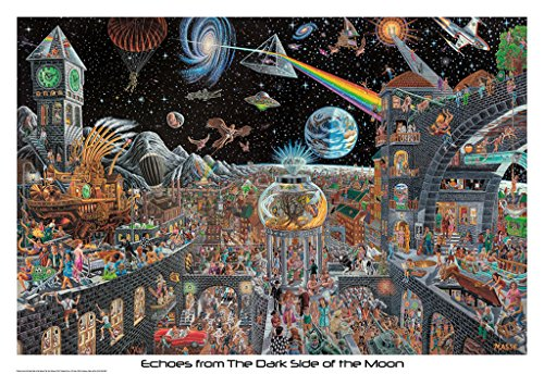 Echoes from the Dark Side of the Moon by Tom Masse Art Print Poster (Classic Concert Posters)