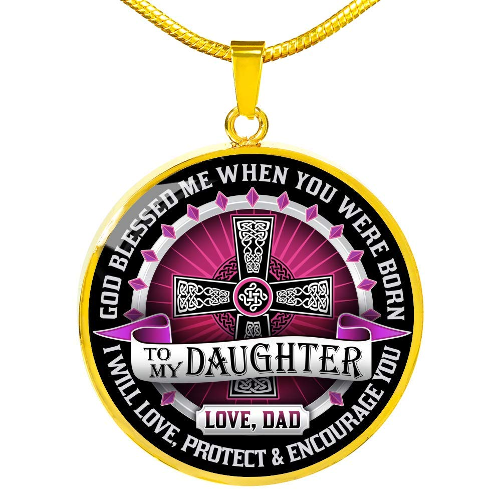 Luxury Necklace Silver On Birthday Father and Daughter Necklace Daughter and Dad Necklace Gift from Daddy Includes Gift Box! to My Daughter Necklaces Pendants Anniversary