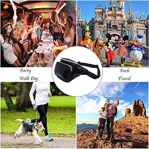 Holographic Fanny Pack Waterproof – Waist Pack for Women Girls, Neon Iridescent Fanny Pack, Stylish Festival Rave Fanny Pack Bum Bag(Black) by MDcharm (Image #7)