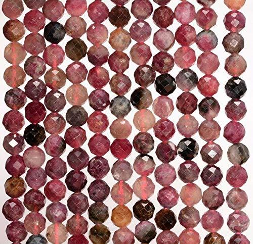 [해외]5MM Pink Tourmaline Gtone Grade AA Micro Faceted Round Loose Beads 15 Beading Jewelry Making DIY Crafting Arts & Sewing by Perfect Beads Store / 5MM Pink Tourmaline Gtone Grade AA Micro Faceted Round Loose Beads 15, Beading, Jewelr...
