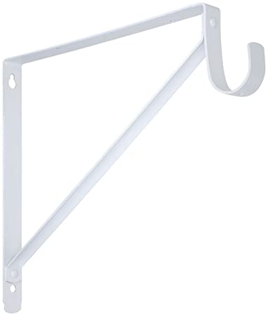 Stanley Home Designs 820225 Shelf And Hang Rod Bracket, White