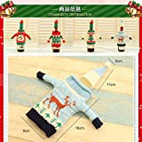 Lonngzhuan Hot Party Ornaments Colorful Wine Bottle Cover Bag Champagne Package Dinner Table Decor Sweater Case