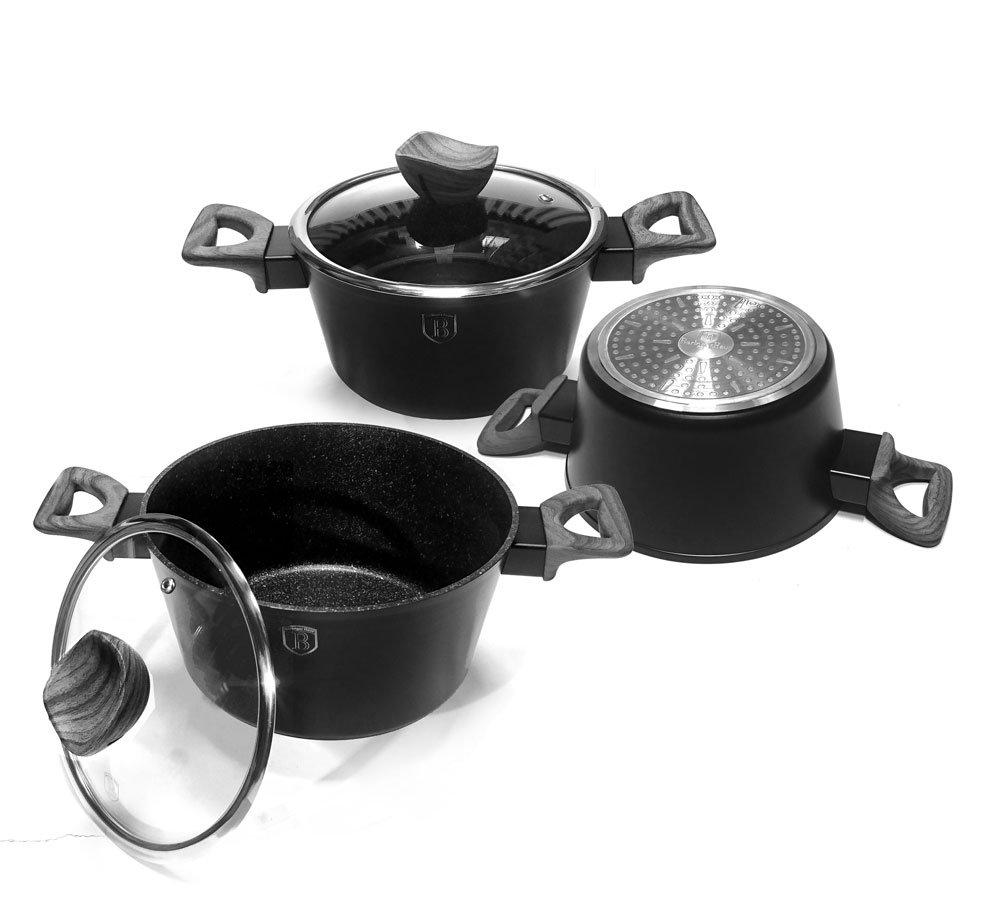 Pot Kit Harnais Rouge 15/pi/èces Granit berlinger Forest Line Smoked Soutien-Gorge de Maison 1538