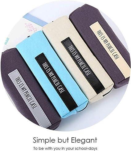 Shide - Estuche para lápices de letras inglesas, estilo fresco, para cosméticos, maquillaje, bolso, estudiantes, papelería, bolsa de almacenamiento, suministros escolares: Amazon.es: Oficina y papelería