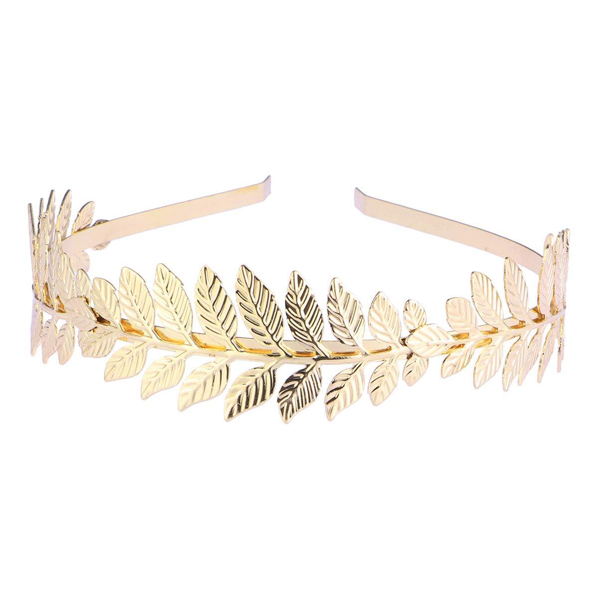 Rose Gold Boho Greek Goddess Inspired Crystal Laurel Leaf Headpiece-Cubic Zirconia CZ Vintage Art Deco Bridal Hair Piece Head Dress-HESTIA