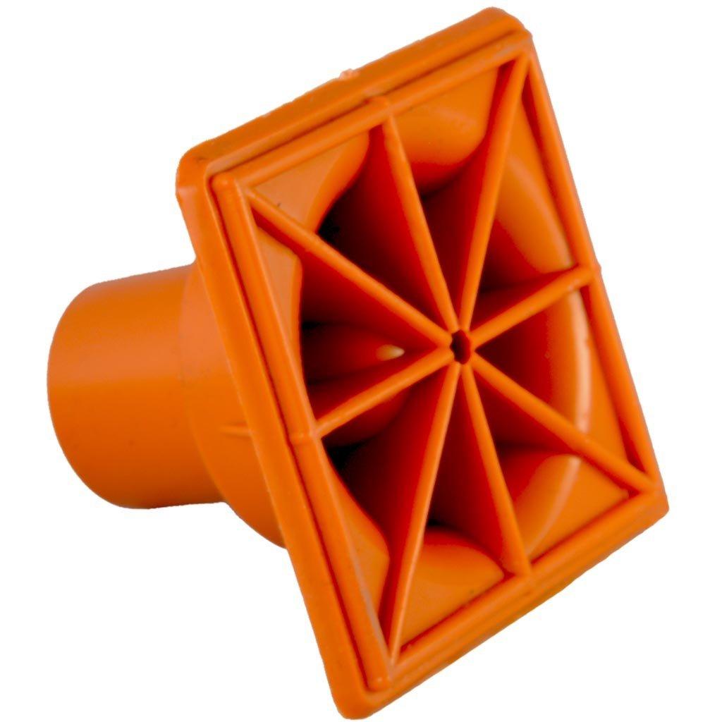25x Rebar Impalement Safety Cap Type S - OSHA Square - (10M-25M) Rebar Size: #3-#7 (25 Pack)