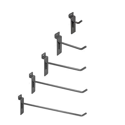 Pack of 25 Chrome 6 Slatwall Hooks