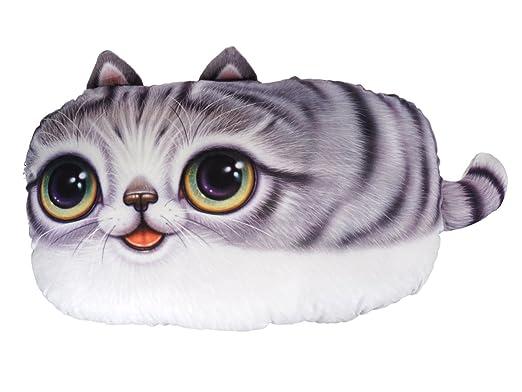 Cojín con 3d gato Cara: Amazon.es: Hogar
