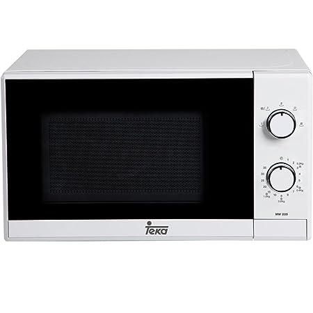 Teka MW225 - Microondas sin grill, Salida Máxima 700W, Consumo 1050W, 20 L, Blanco y negro