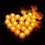 Velas de LED Pequeñas con Efecto Llama, VicTsing Velas Electricas Decorativas con Pilas Incorporadas de 100 Horas para San Valentín, Jardin, Baño, Boda, Fiesta, Cumpleaños, Navidad y Halloween