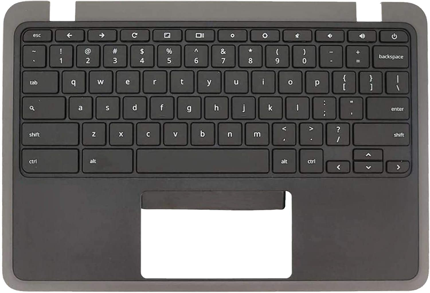 Rinbers Palmrest Upper Case Top Cover with US Keyboard Without Touchpad Replacement for Acer Chromebook 11 C732 / C732T C733 / C733T 6B.GUKN7.001