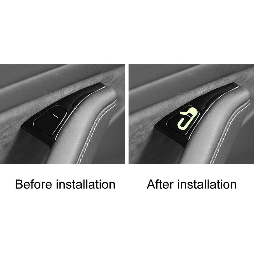 Luminous Door Open Styling Exit Reminder Car Stickers Warning Mark DIY for Tesla Model 3