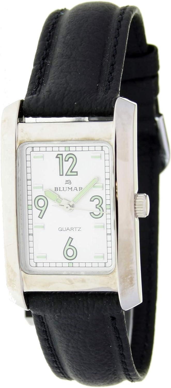 Blumar Blu09846 Reloj Analogico para Mujer Caja De Metal Esfera Color Blanco