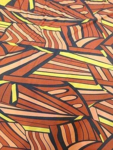 New Women's Brown Black Yellow Print Long One Shoulder Maxi Dress 2X 3X 4X 16 18 20 22