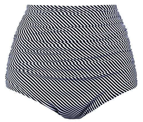 Angerella Women Swimwear Tankinis Shorts Beach Shorts Bikini,Black(stripe),US 16-18=Tag Size -