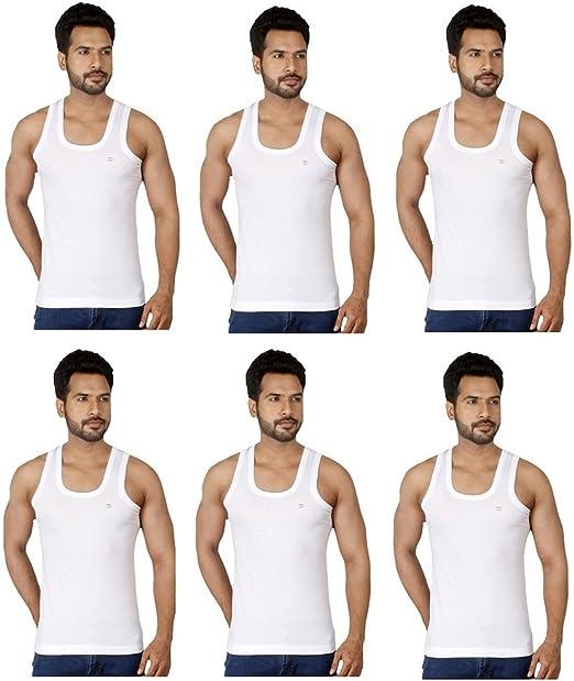 RUPA Frontline RN Vest Premium Combo of 6 Men's Vest Men's Underwear Vests at amazon