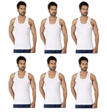 RUPA Frontline RN Vest Premium Combo of 6 Men's Vest Men's Underwear Vests at amazon