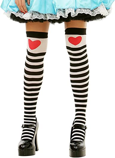 Suited White Thigh-High Halloween Adult Women/'s Cosplay Costume Tights