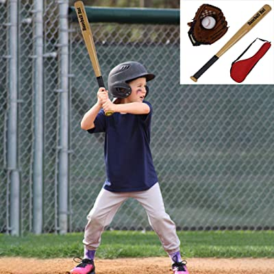 "Kid Baseball Glove and Ball Set | 10.5"" Leather Baseball Softball Mitt Tee Ball Gloves Outdoor Games Fun Sport Toys Ideal Gift Set for The Beginning Youth Baseball Player (from US, Multicolour): Kitchen & Dining"