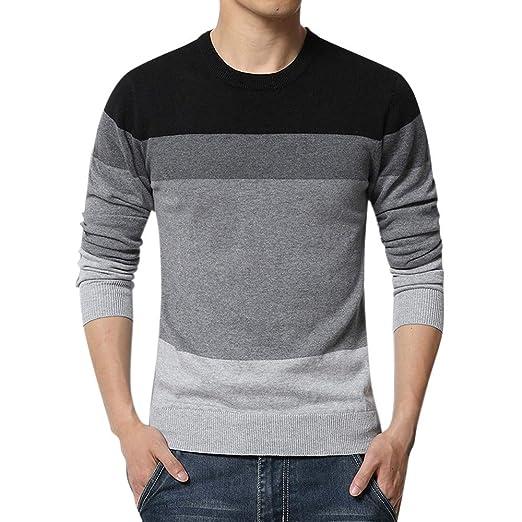Amazoncom Zainafacai 2018 Men Sweater Autumn Fashion Patchwork