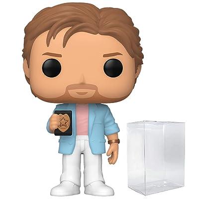 Funko Pop! TV: Miami Vice - Crockett Vinyl Figure (Includes Compatible Pop Box Protector Case): Toys & Games