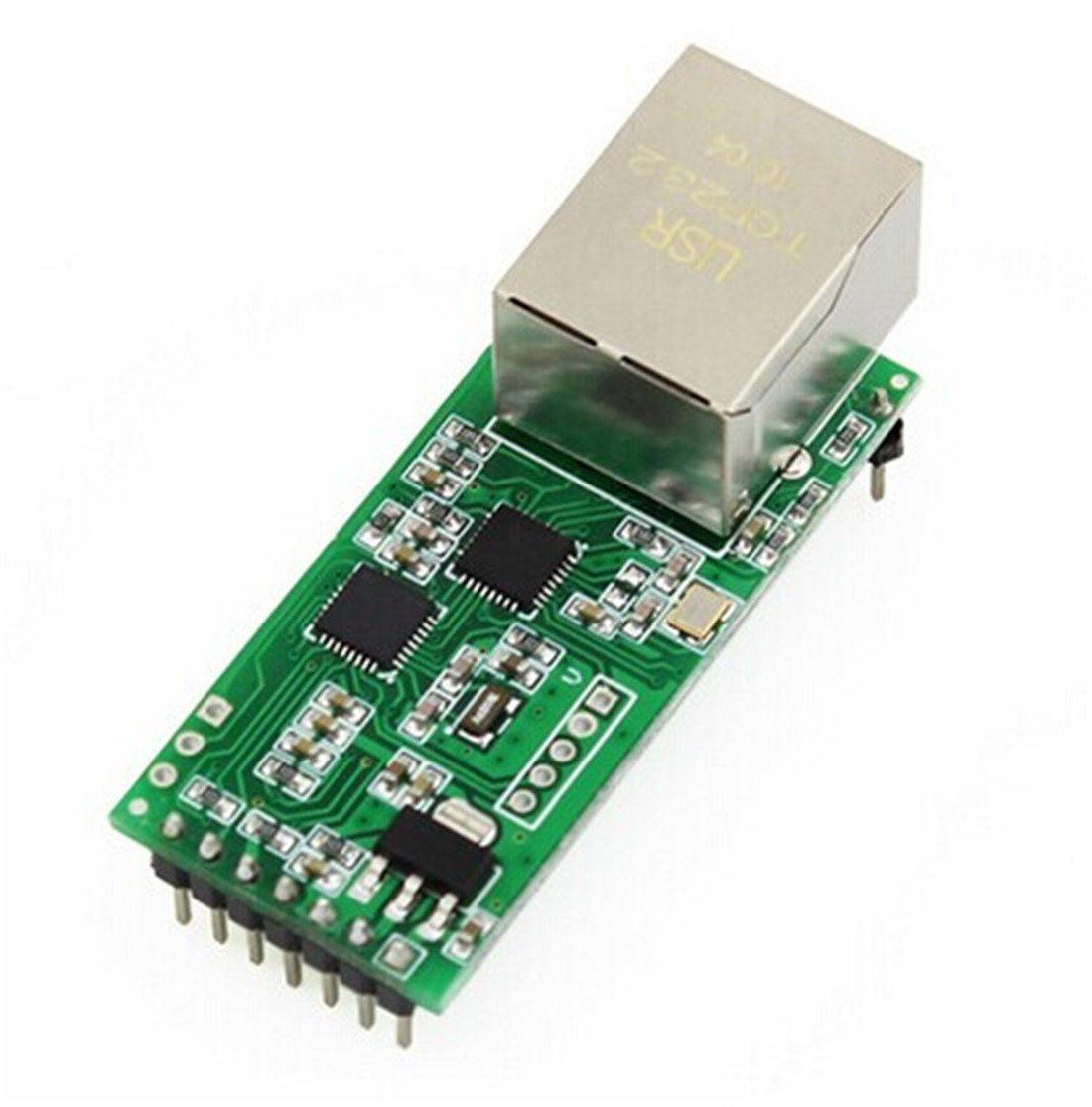 USRIOT USR-TCP232-T 2 Minuscule Serial Ethernet Module convertisseur UART série TTL Ethernet Module TCPIP support DHCP et DNS