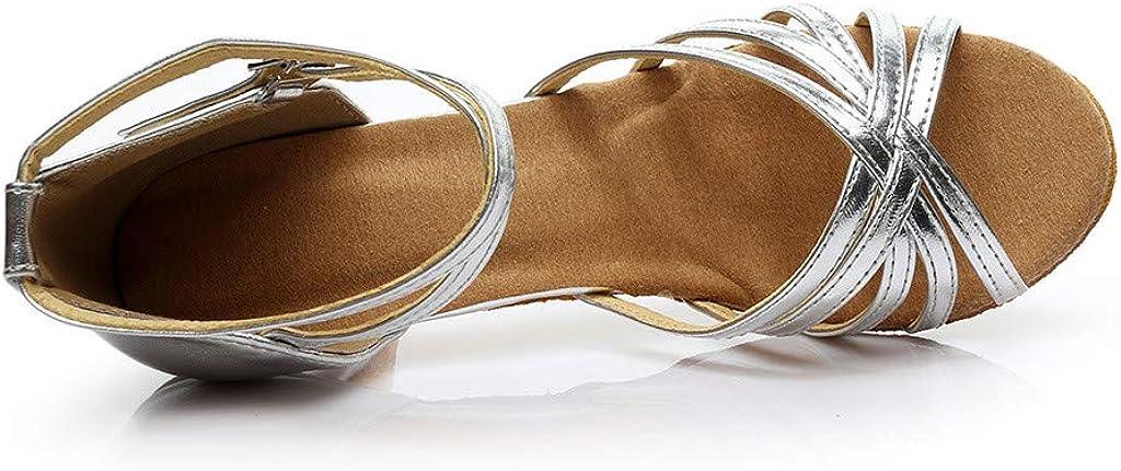 YANG-YI Women Color Fashion Rumba Waltz Prom Ballroom Latin Salsa Dance Shoes Solid Thin Comfortable Slides