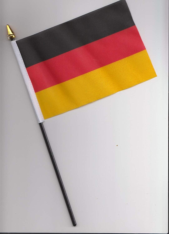 Federal de Alemania bandera de la mano 25 cm: Amazon.es: Hogar